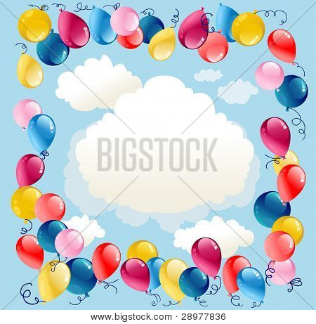 Balloons background with space for text