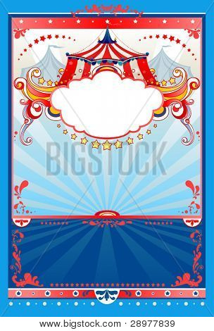 Circus background with space for text