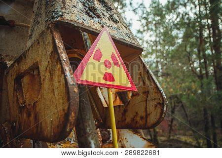 Radiation Sign Triangular Warning Yellow