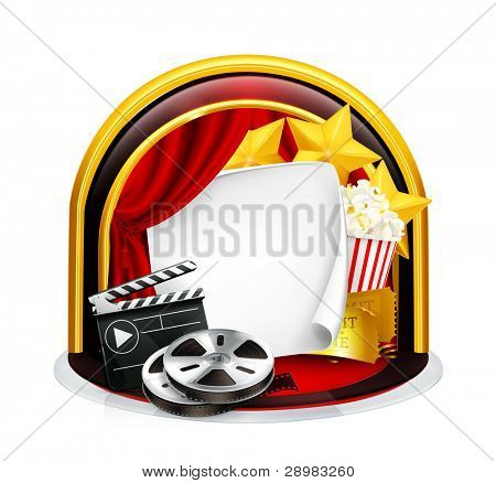 Movie frame, vector