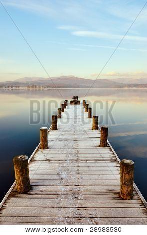 Jetty At Windermere, English Lake District