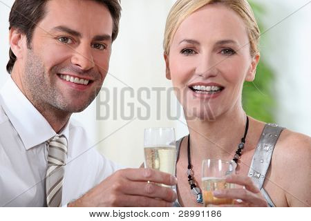 couple at a party