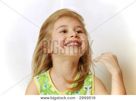 Little Blond Girl Laughing