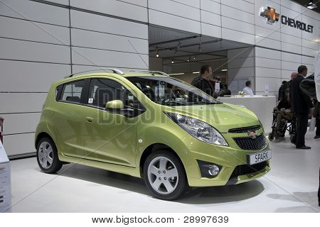 Brussels, Auto Motor Expo Chevrolet Spark