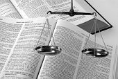 foto of law-books  - Scales and law books  - JPG