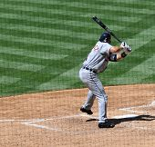 June 22nd, 2008 - Detroit Tigers Catcher Ivan Rodriguez hits during a game with the San Diego Padres