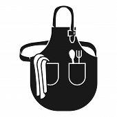 Large Kitchen Apron Icon. Simple Illustration Of Large Kitchen Apron Icon For Web Design Isolated On poster