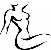 picture of woman body  - Sketch of woman torso - JPG