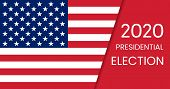 United States Of America Presidential Election 2020. Vector poster