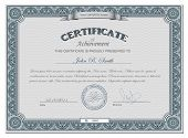 stock photo of certificate  - Vector illustration of detailed certificate - JPG
