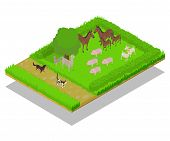 Domestic Animal Concept Banner. Isometric Banner Of Domestic Animal Vector Concept For Web, Giftcard poster