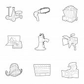 Film Creation Icons Set. Outline Set Of 9 Film Creation Icons For Web Isolated On White Background poster