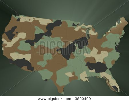 Camouflage Map Of The Usa