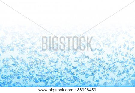 Beautiful frosty pattern on window
