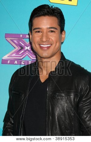 LOS ANGELES - NOV 5:  Mario Lopez arrives at the X-Factor Season Two FInalist Party at SLS Hotel at Beverly Hills on November 5, 2012 in Los Angeles, CA