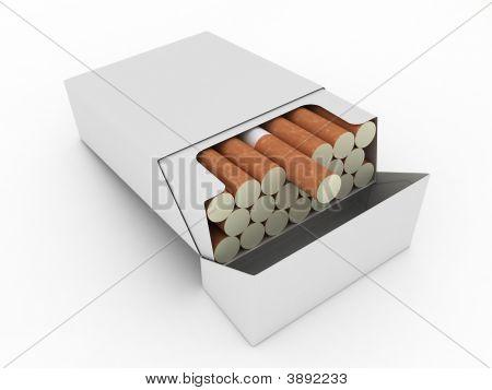 Open Cigarettes Pack
