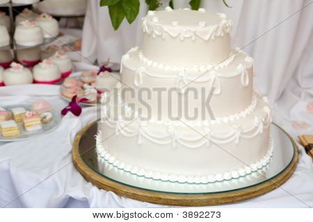 Three Tiered Wedding Cake