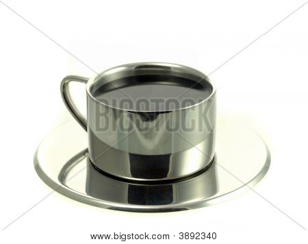 Coffee In Stainless Steel Cup