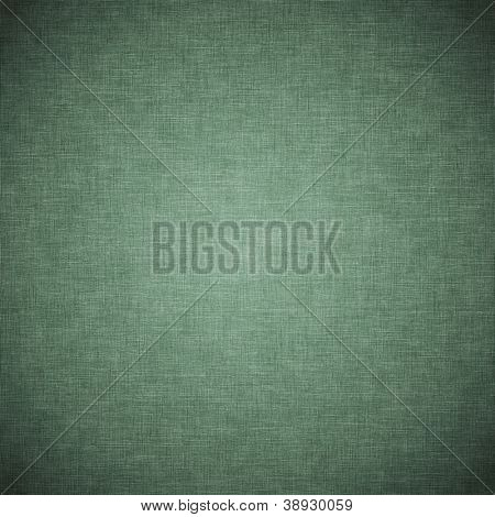 Green vintage fabric background or texture
