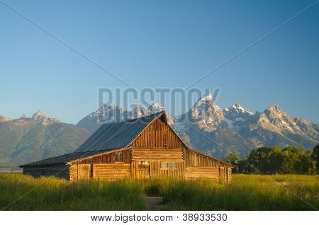 one of the historic Moulton barns (built by the Moulton brothers who were Mormons in the 1800's)  in the Teton national Park