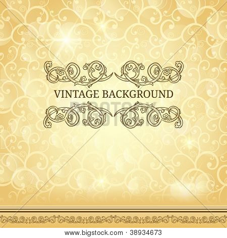 Vintage frame on light background