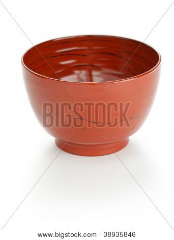 japanese urushi lacquered wooden bowl for miso soup