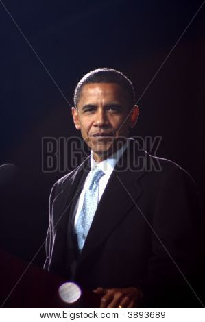 Candidato presidencial Barack Obama en Virginia Beach