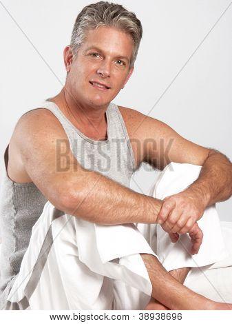 Fresh mid adult man portrait.