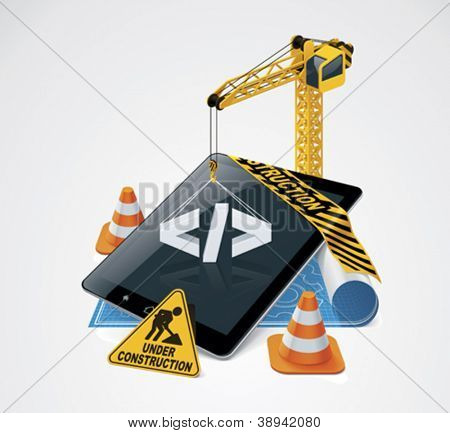 Vector website construction icon