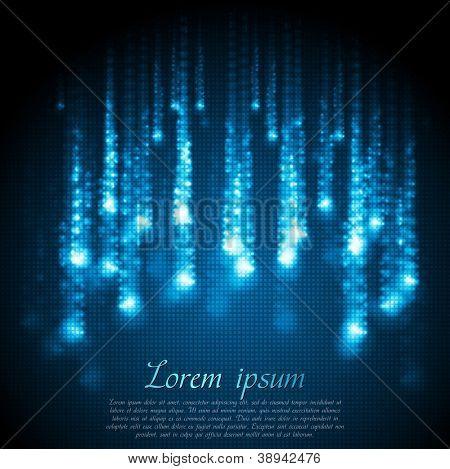 Shiny blue abstract background. Vector design eps 10