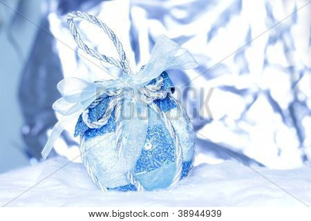 christmas ball on abstract light background, Shallow Dof