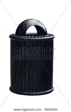Black Trash Or Garbage Can