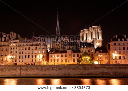 Skyline Of Paris By Night