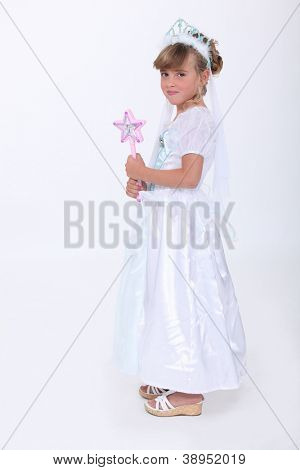 Little girl dressed as a fairy princess