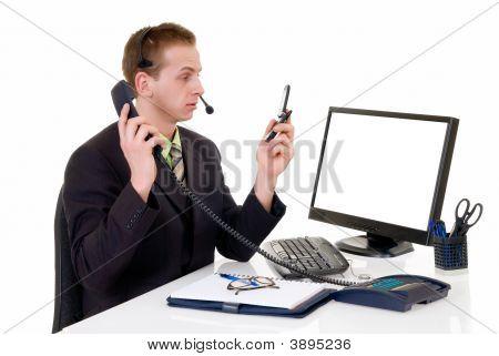 gestresst Geschäftsmann office