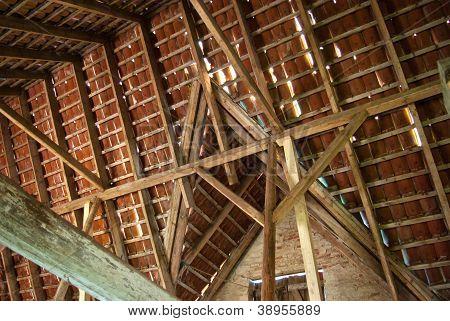 Old Wood Beam Ceiling