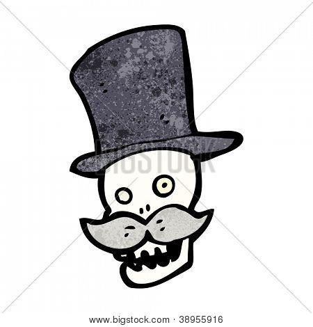 cartoon wealthy skull