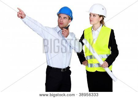 Engineers on a construction site
