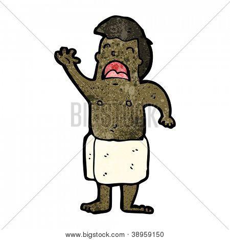cartoon man wearing towel