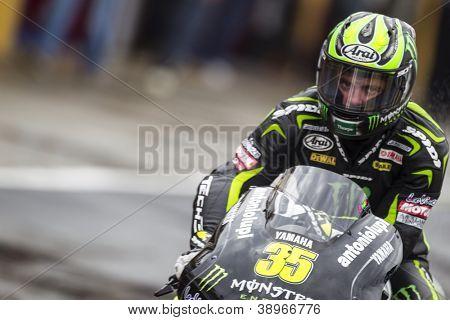 CHESTE - NOVEMBER 9: Cal Crutchlow during MOTOGP of the Comunitat Valenciana, on November 9, 2012, in Ricardo Tormo Circuit of Cheste, Valencia, Spain