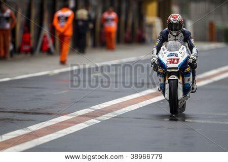 CHESTE - NOVEMBER 9: Takaaki Nakagami during MOTOGP of the Comunitat Valenciana, on November 9, 2012, in Ricardo Tormo Circuit of Cheste, Valencia, Spain