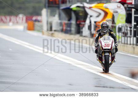 CHESTE - NOVEMBER 9: Mika Kalio during MOTOGP of the Comunitat Valenciana, on November 9, 2012, in Ricardo Tormo Circuit of Cheste, Valencia, Spain