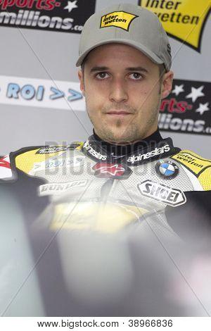 CHESTE - NOVEMBER 9: Thomas Luthi during MOTOGP of the Comunitat Valenciana, on November 9, 2012, in Ricardo Tormo Circuit of Cheste, Valencia, Spain
