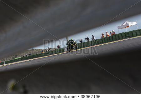 CHESTE - NOVEMBER 10: Cal Crutchlow during GP of the Comunitat Valenciana, on November 10, 2012, in Ricardo Tormo Circuit of Cheste, Valencia, Spain