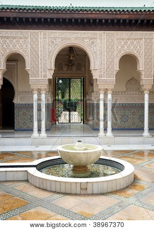 Interior of Moroccan Pavilion in Malaysia