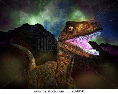 The Dinosaur's doomsday at night