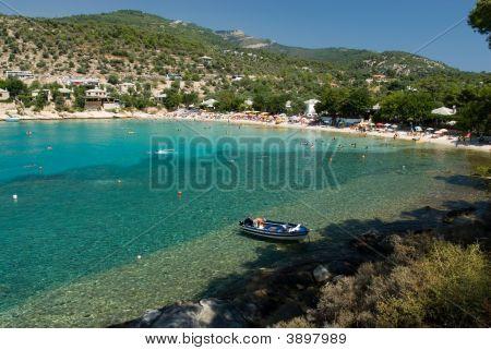 Aliki Beach In Thasos Island Greece
