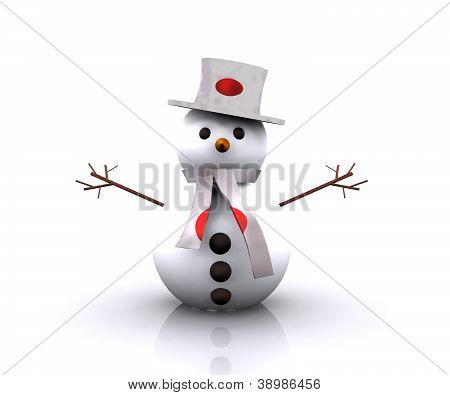 Snowman Japanese - 3D
