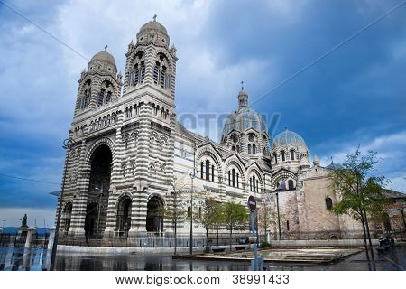 Sainte Marie Majeure cathedral in Marseille, France. Also called La Major or La Nouvelle Major.