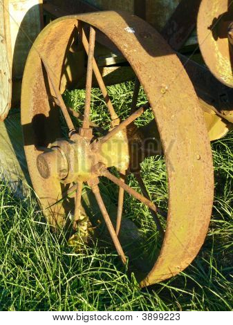 Wheel Of Antique Thresher